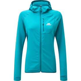 Mountain Equipment Eclipse Capuchon Jas Dames, pool blue/tasman